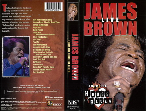 JAMES BROWN - LIVE  (VHS)
