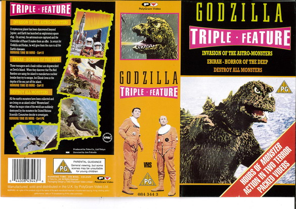GODZILLA TRIPPLE FEATURE (VHS) UK