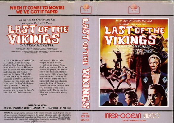 LAST OF THE VIKINGS (VHS) UK
