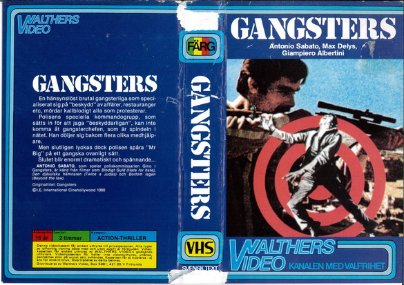 16 GANGSTERS (VHS)