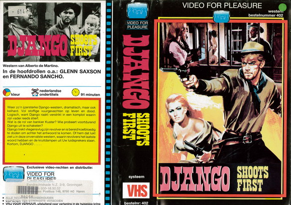 DJANGO SHOOTS FIRST (VHS) HOL