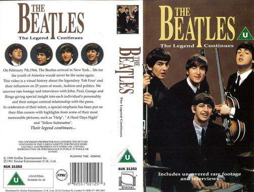 BEATLES - LEGEND CONTINUES (VHS)