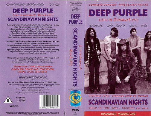 DEEP PURPLE - SCANDINAVIAN NIGHTS (VHS)