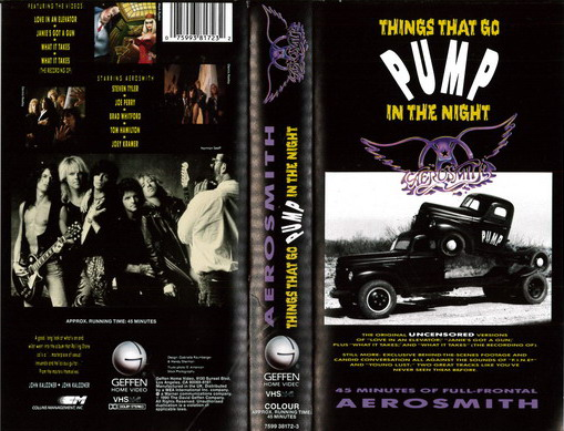 AEROSMITH - PUMP IN THE NIGHT (VHS)