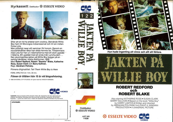 11538 JAKTEN PÅ WILLIE BOY (VHS)