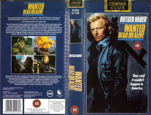 WANTED DEAD OR ALIVE (VHS) UK