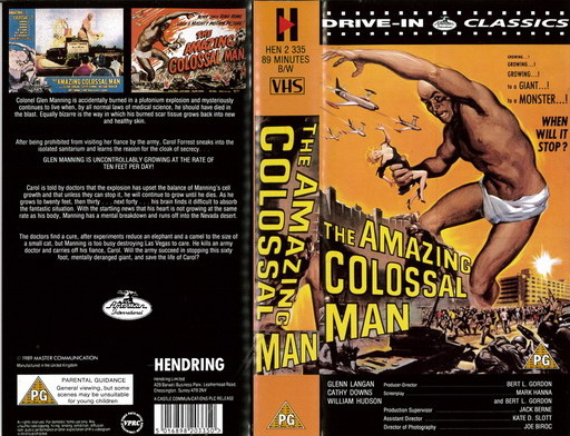 AMAZING COLOSSAL MAN (VHS) UK