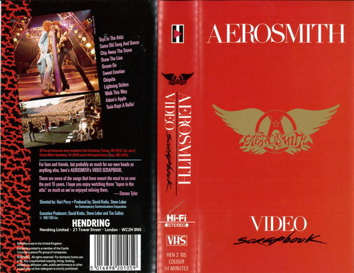 AEROSMITH - VIDEO SCRAPBOOK (VHS)
