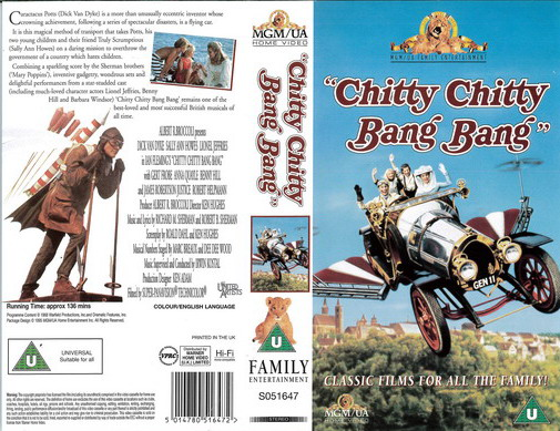 CHITTY CHITTY BANG BANG (VHS) UK