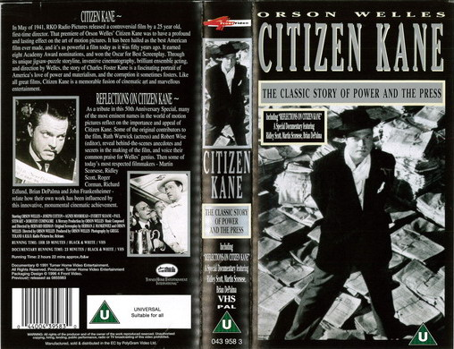 CITIZEN KANE (VHS) UK