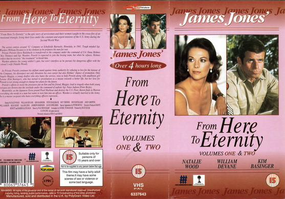 FROM HERE TO ETERNITY (VHS) UK
