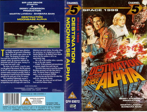 SPACE 1999 - DESTINATION MOONBASE ALPHA (VHS) UK