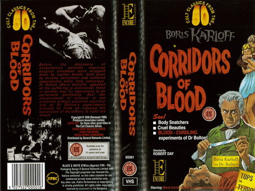 CORRIDORS OF BLOOD (VHS) UK