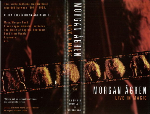 MORGAN ÅGREN - LIVE IN MAGIC (VHS)