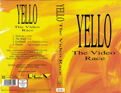 YELLO - THE VIDEO RACE  (VHS)