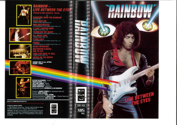 RAINBOW - LIVE BETWEEN THE EYES  (VHS)