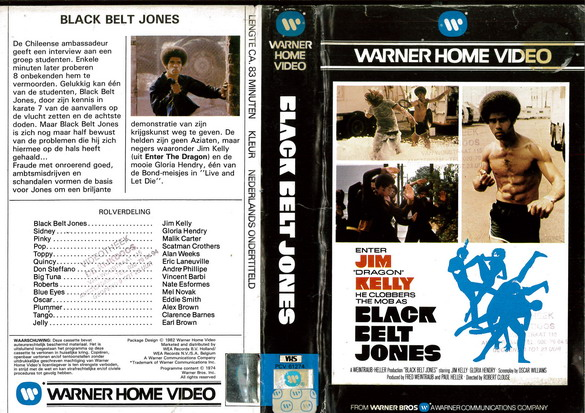 BLACK BELT JONES (VHS) HOL