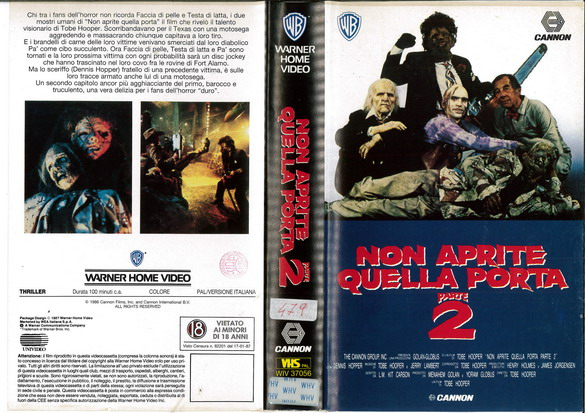 TAXAS CHAINSAW MASSACRE 2 (VHS) IT