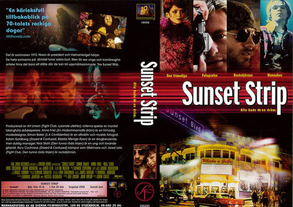 SUNSET STRIP (VHS)