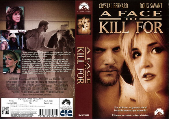 A FACE TO KILL FOR (vhs)