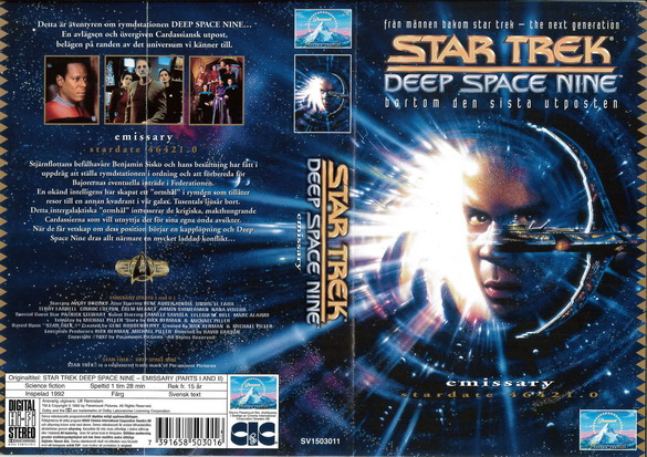 STAR TREK DEEP SPACE NINE 1,1-2 EMISSARY