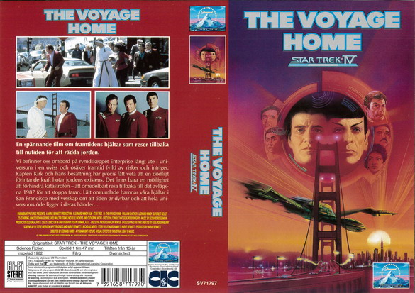 STAR TREK 4 VOYAGE HOME (vhs)