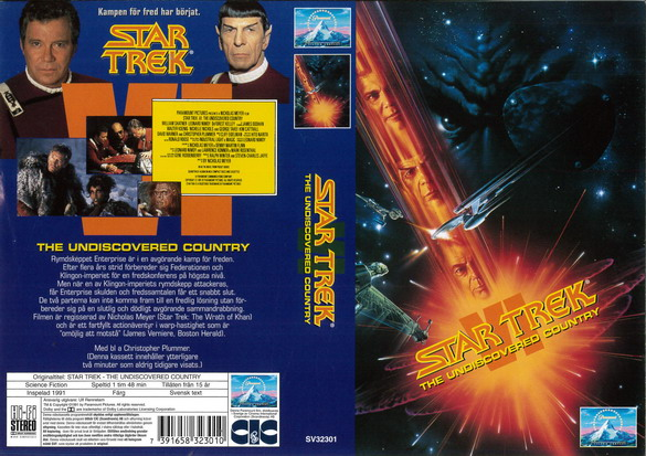 STAR TREK 6 UNDISCOVERED COUNTRY (vhs)