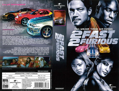 2 FAST 2 FURIOUS (VHS)