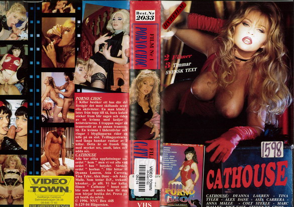 2033 PORNO CHOC + CATHOUSE (VHS)