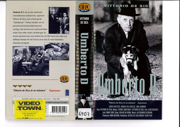 UMBERTO D (VHS)