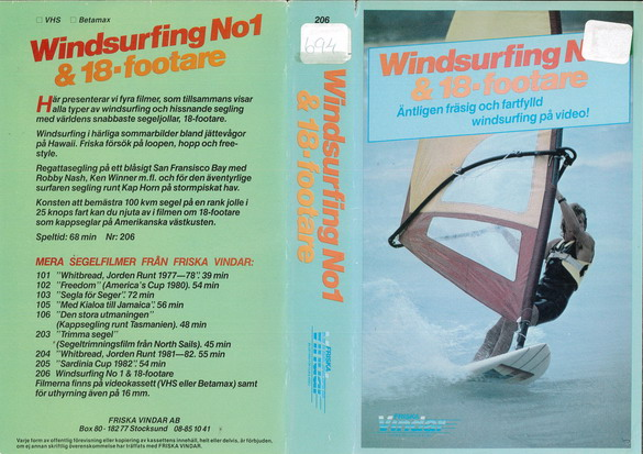 WINDSURFING NO1 & 18-FOOTARE (VHS)
