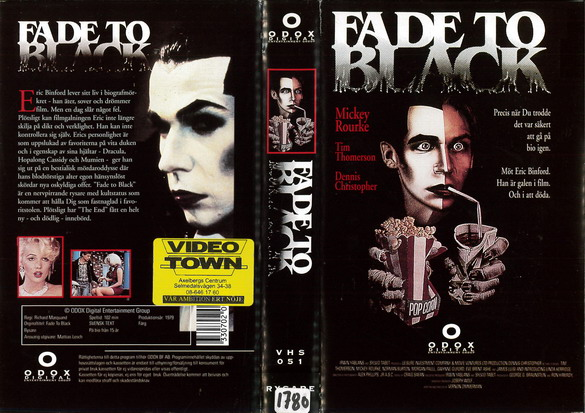 FADE TO BLACK (VHS)
