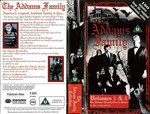 ADDAMS FAMILY VOL 1,2 (VHS) UK