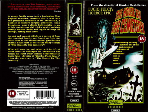 HOUSE BY THE CEMETERY -  (UK VHS)