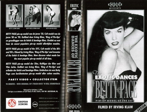 EROTIC DANCES OF BETTY PAGE (VHS) HOL