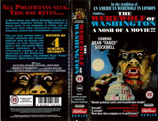 WEREWOLF IN WASHINGTON (VHS) UK