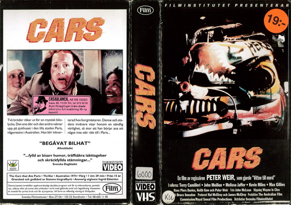 CARS THAT ATE PARIS (VHS)