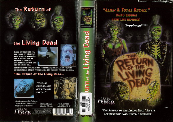 RETURN OF THE LIVING DEAD (BEG VHS)