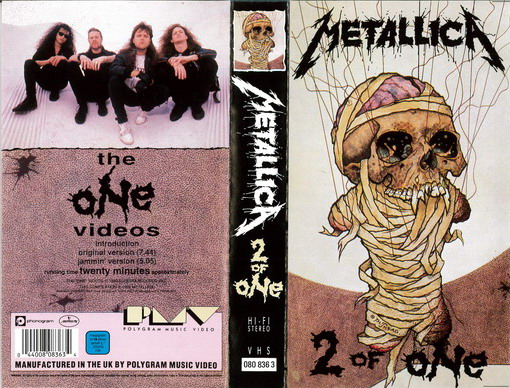 METALLICA - 2 OF ONE (VHS)