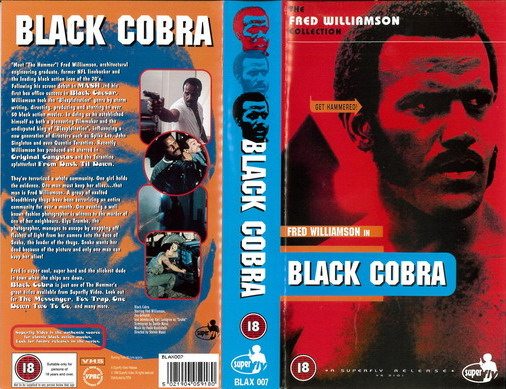 BLACK COBRA (VHS) UK