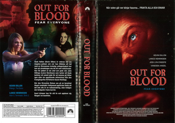OUT FOR BLOOD (VHS)