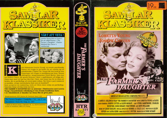 FARMER'S DAUGHTER (VHS)