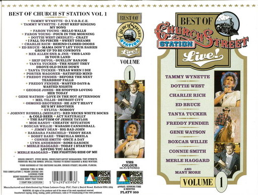 BEST OF CHURCH STREET STATION LIVE! (VHS)