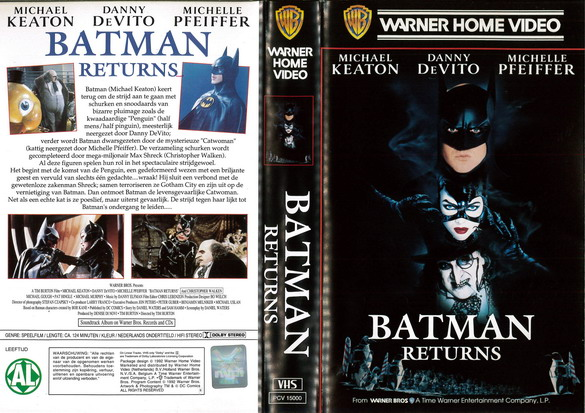 BATMAN RETURNS (VHS) HOL