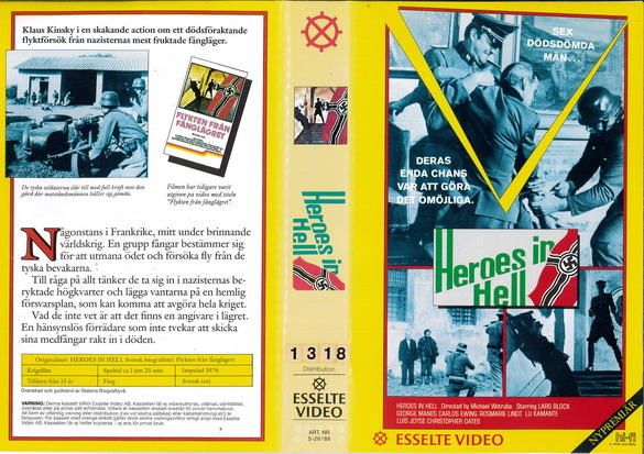 HEROES IN HELL (vhs)