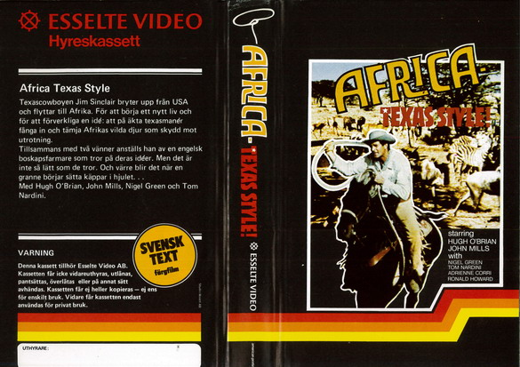 AFRICA TEXAS STYLE (VHS)