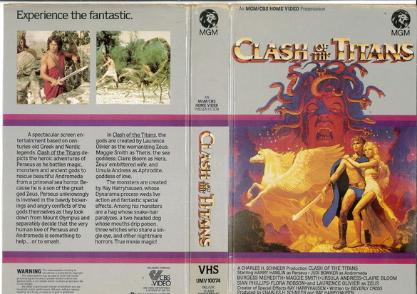 CLASH OF THE TITANS (VHS) UK