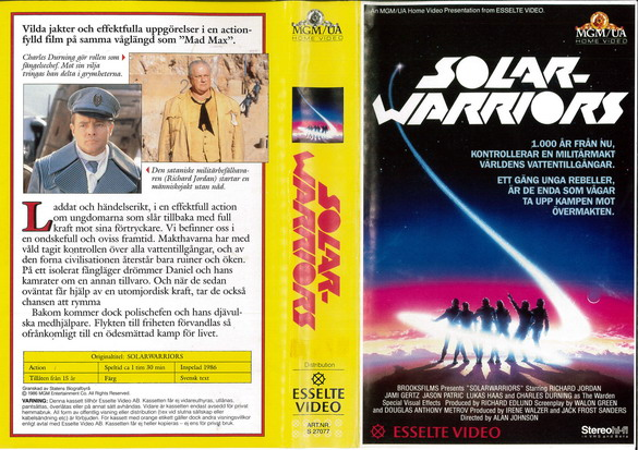 27077 SOLAR WARRIORS (VHS)