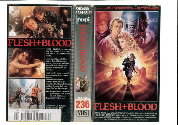 FLESH + BLOOD (VHS) HOL