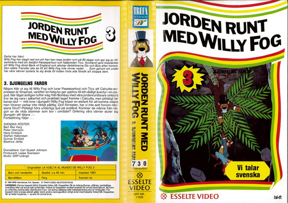 11026 JORDEN RUNT MED WILLY FOG DEL 3 (VHS)